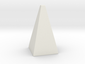 Cosplay Spike - Pyramid in White Natural Versatile Plastic: Extra Large