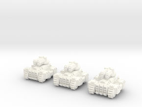6mm - SteamWorld Light Tank in White Processed Versatile Plastic