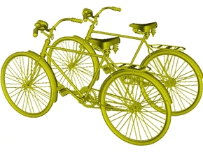 1/72 scale WWII Wehrmacht M30 bicycles x 2 in Smoothest Fine Detail Plastic