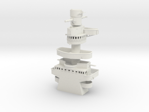 1/128 DKM Admiral Scheer Tower in White Natural Versatile Plastic