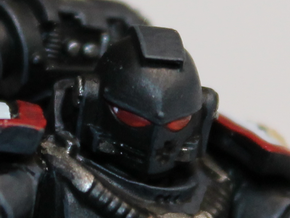 Black Templars Helmets (10 pcs) in Smoothest Fine Detail Plastic