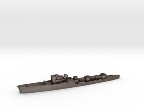 Italian Ardente torpedo boat 1:3000 WW2 in Polished Bronzed-Silver Steel