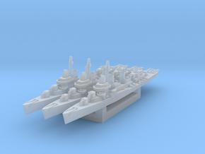 Fletcher class destroyer x3 1/2400 in Smooth Fine Detail Plastic