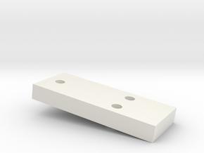 5mm CREEPER SPACER in White Natural Versatile Plastic