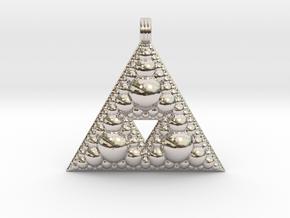 Fractal Pendant Order 3 in Platinum