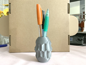 Subtraction Pencil Holder / Vase Type A in White Natural Versatile Plastic: Small