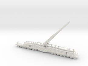 38 cm K E Kanone Eisenbahn 38 cm Siegfried 1/144 u in White Natural Versatile Plastic
