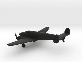 Lockheed Model 12 Electra Junior in Black Natural Versatile Plastic: 1:160 - N