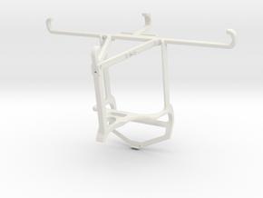 Controller mount for PS4 & TECNO Phantom 9 - Top in White Natural Versatile Plastic
