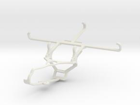 Controller mount for Steam & T-Mobile Revvlry+ - F in White Natural Versatile Plastic