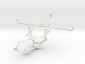 Controller mount for Steam & Xiaomi Mi A3 - Front in White Natural Versatile Plastic