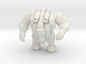 Earth Elemental 55mm DnD miniature for games rpg in White Natural Versatile Plastic