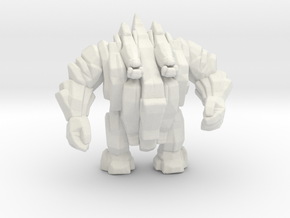 Stone Golem 45mm DnD miniature for games and rpg in White Natural Versatile Plastic