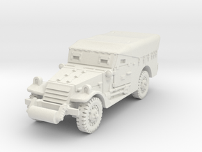 M3A1 Scoutcar early (closed) 1/56 in White Natural Versatile Plastic