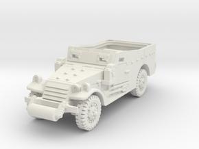M3A1 Scoutcar late (open) 1/100 in White Natural Versatile Plastic