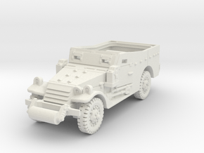M3A1 Scoutcar late (open) 1/100 in White Natural Versatile Plastic