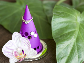 Rings and earrings holder in Purple Processed Versatile Plastic