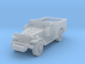 M3A1 Scoutcar late (open) 1/120 in Smooth Fine Detail Plastic