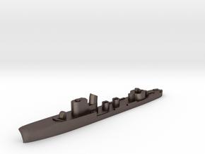 Italian Calliope torpedo boat 1:3000 WW2 in Polished Bronzed-Silver Steel