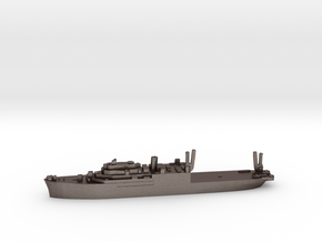 USS Pine Island seaplane tender 1:3000 WW2 in Polished Bronzed-Silver Steel