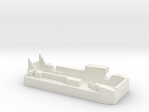 1/700 Scale CNIM L-CAT EDA-R Landing Craft in White Natural Versatile Plastic