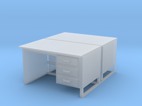 bureaux en O 2 pieces in Smooth Fine Detail Plastic: 1:43