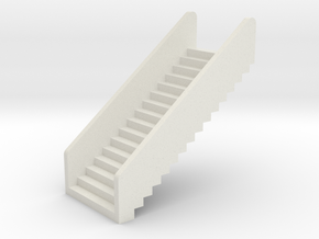 N Scale Stairs H20 in White Strong & Flexible