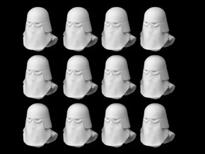 (Legion) 12x Snowtroopers Helmets in Smooth Fine Detail Plastic