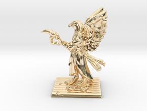Aarakocra Monk Miniature in 14k Gold Plated Brass