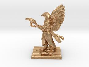 Aarakocra Monk Miniature in Natural Bronze