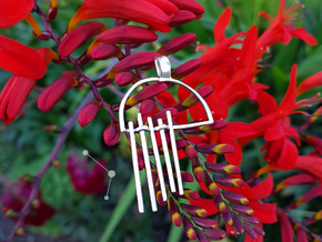 Warp and Weft - Pendant - Silent Place in Polished Silver