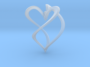 Earring heart in Smooth Fine Detail Plastic