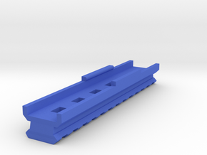 Bottom Picatinny Rail (13-Slots) for HammerShot in Blue Processed Versatile Plastic