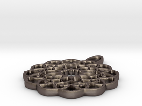 Celtic Flower in Polished Bronzed-Silver Steel