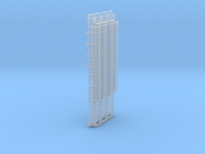 N Scale Cage Ladder 60mm (Platform) in Smooth Fine Detail Plastic