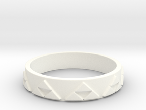 Slim Triforce Ring (Choose your size!) in White Processed Versatile Plastic