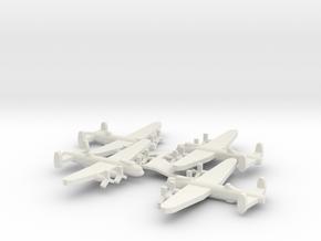 British Avro Lancaster Bomber (x4) in White Natural Versatile Plastic