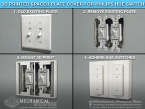 Philips Switch Double Toggle Plate (Set of 2) in White Natural Versatile Plastic