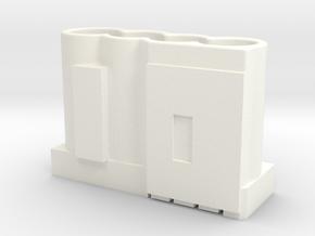 690-14889-01_rev_MECH, HOLDER, 4X10F SUPERCAPS, AP in White Processed Versatile Plastic