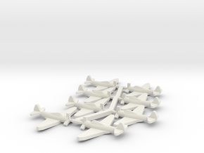 US TBD Devastator Torpedo Bomber in White Natural Versatile Plastic: Small