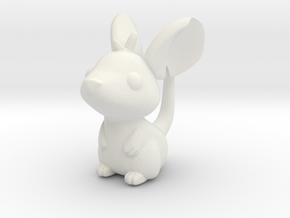 Cute Mouse in White Natural Versatile Plastic