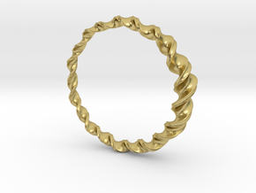 Ring #7 in Natural Brass