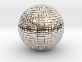 Disco Ball in Rhodium Plated Brass