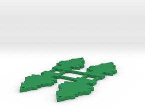 Scale Pine Tree Air Freshener 1Tenth in Green Processed Versatile Plastic