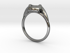 Otter Ring in Fine Detail Polished Silver