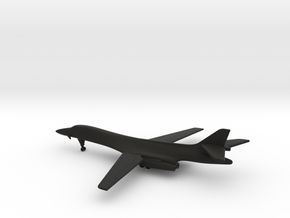 Rockwell B-1B Lancer (spread wings) in Black Natural Versatile Plastic: 1:500