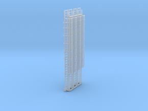 N Scale Cage Ladder 64mm (Platform) in Smooth Fine Detail Plastic