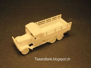1/144 Henschel D33 German truck in White Natural Versatile Plastic