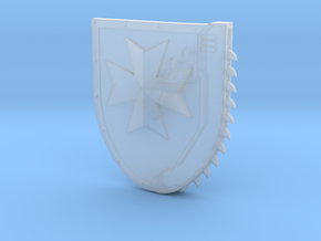 Right-handed Chainshield (Temple Cross design) in Smooth Fine Detail Plastic: Small