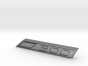 Cupra 300 Text Badge in Natural Silver
